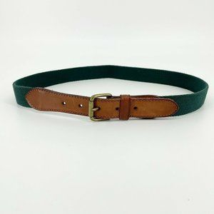 Vintage Womens Webbed and Leather Belt Country W34
